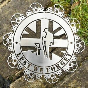 LEST WE FORGET ROUND Wall Mounted MILD STEEL