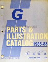 1985-1988 Chevy and GMC G Van Parts Catalog Illustrated Book Rally Vandura