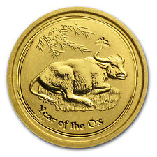 2009 Australia 1/20 oz Gold Lunar Ox BU (Series II) - SKU #43915