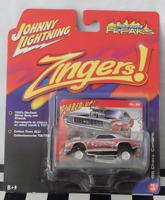 Johnny Lightning Street Freaks Zingers 64 '69 Chevy Camaro Silver Flared Up