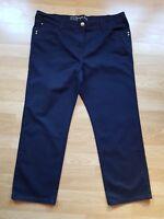 Ladies' Dark Indigo Straight Leg Stretch Jeans, By Tu, Size 22S, Short L28.5