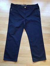 Ladies' Dark Indigo Straight Leg Stretch Jeans, By Tu, Size 22S, Short L28.5