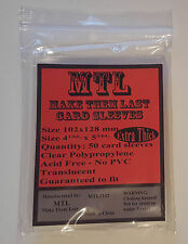 MTL Card Sleeves THICK OSDE: Size 102X128 50PCS PREFECT FIT for Descent 2