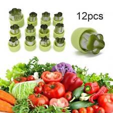 12X Fruit Vegetable Mini Cookie Shape Cutters Set Kid Food DIY Mold Home Tools