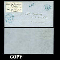USA BALTIMORE MARYLAND 1846 5¢ PAIR ONLY TWO COVERS FRANKED WITH PAIR 50000,Copy