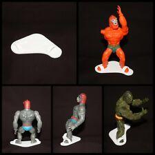 Masters of the universe vintage motu figure stands display toy he-man skeletor