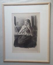 Maximilien Luce 1858-1941 original hand signed Femme se coiffant lithograph 1894