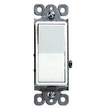 10 Pack Decorator 15 Amp Rocker Switch Single Pole 91150-W White