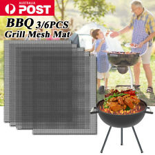 Mintiml Charcoal BBQ Grill Mesh Mat Non-Stick Cooking Barbecue Liner Sheet AU