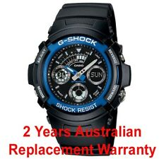 CASIO G-SHOCK MEN WATCH AW-591-2A BLACK x BLUE AW-591-2ADR 2-YEARS WARRANTY