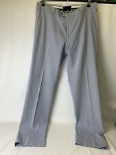 Tommy Hilfiger Men's blue and white striped chino trousers VGC ~ W36 L34 SUMMER