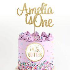 custom cake topper, name topper, personalised topper, glitter cake smash one any