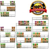 3/4/5/6 Tiers Wall Hang Home Kitchen Spice Organizer Storage Chrome Rack Silver~