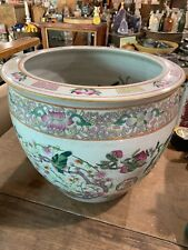 """Antique Chinese China Famille rose planter, jardinaire 12.35"""" Tall, 14.5"""" Wide"""