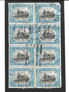 GUATEMALA - 1902 - 5c x BLOCK OF 8 - SG 118a - USED.