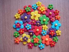 rainbow edible flowers for  cupcake / cake decorations, birthday