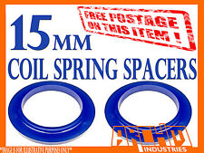 SET OF 2 REAR 15mm POLYURETHANE COIL SPRING SPACERS- LANDCRUISER 80 SERIES