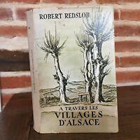 Robert Redslob De Cruzado Las Pueblos de Alsacia Dibujos Cola Sutter 1961