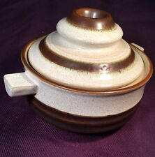 """VTG Denby POTTER'S WHEEL RUST BROWN INDIVIDUAL SOUP BOWL COVERED CASSEROLE 4.75"""""""