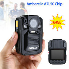 """Infrared Night Vision 1296p 2""""Display Police Body Worn Video Cam Guard Security"""