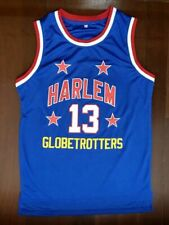 WILT Chamberlain #13 Harlem Globetrotters Throwback Basketball Jersey Retro Blue