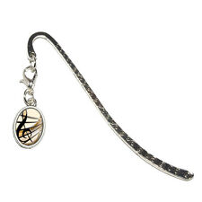Sound Light Music Note Design - Metal Bookmark Page Marker with Oval Charm