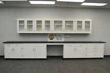 -Laboratory 18' BASE 13' WALL Furniture / Cabinets / Case Work / Benches / Tops