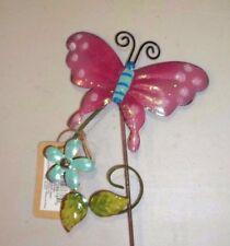 New listing Garden Butterfly Flower Pink Stake Meadow Creek #94