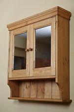 Pine mirror bathroom cabinet made by our own carpenters