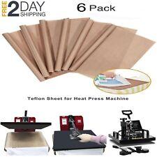 6 Pack TEFLON SHEET for Transfer Heat Press Non Stick Reusable 16 x 20 Craft Mat