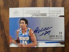 2003-04 SP Signature Edition Signatures Basketball Card #MI Andre Miller AUTO