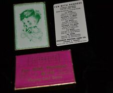 Vtg 1950's FUN WITH NUMBERS Playing Card Game I WIN Addition Girl Wearing Hat