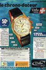Publicité advertising 1974 La Montre Difor Suisse Besancon