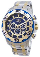 Invicta 26296 Men's Pro Diver Blue Dial Two Tone Chronograph Watch