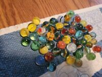 FIFTY Assorted Cat and Snake Eye Pre-1970 Marbles - Some INteresting ONes!