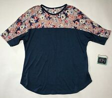 Cool Melon Floral Tunic Top Women's Medium Multi-Color Spring Summer USA Made