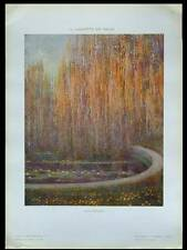 LE BASSIN DES SAULES -1910- PHOTOLITHOGRAPHIE, GUIDO MARUSSIG,