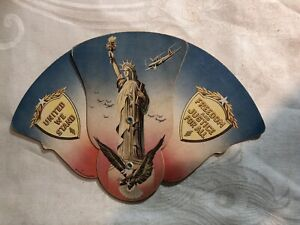 1928 FoldOut Patriotic Advertising Hand Fan National Stores Nashville Tennessee