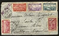 FRANCE MOROCCO to ARGENTINA  Front Cover 1939 - Air Cover - Rare Destination!!