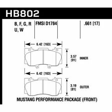Hawk HB802F.661 Performance HPS Front Disc Brake Pads Set For 15-17 Ford Mustang