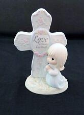 "Precious Moments Figurine ""Love Blooms Eternal"" Cross #127019 - 1994 Enesco"