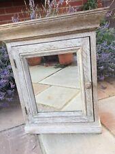 Limed Oak Mirrored Bathroom  Cabinet Solid Oak