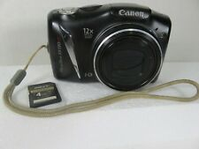 Canon PowerShot SX130 IS 12.1 MP Digital Camera HD 12X Optical Black 4GB SD Card