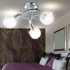 Decken Lampe Geflecht DESIGN Kugel Lüster Leuchte Chrom Strahler Spot Flur Licht