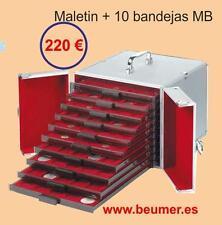 MALETIN Aluminio con 10 Bandejas a elegir.