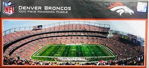 NFL Denver Broncos Stadium Panoramic MasterPieces Jigsaw Puzzle 1000 Pieces NEW!