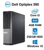 DELL Fast PC Optiplex 390 Core i3-2120 4GB RAM 250G HDD Year Warranty Windows 10