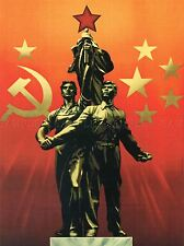 PROPAGANDA COMMUNISM SOVIET USSR CHINA FRIEND COMRADE RED POSTER PRINT BB2404A