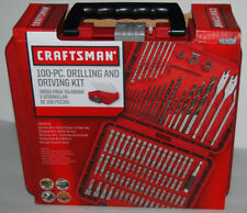 Craftsman 100 Pc Drilling Driving Bit Accessory Kit 931639 ACM1001 Case Set NEW