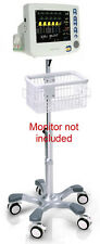 Rolling Roll stand for CSI Criticare 8100EP nGenuity monitor (big wheel), NEW